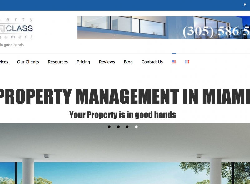 Création Site Internet Property First Class Management - KeepinWeb