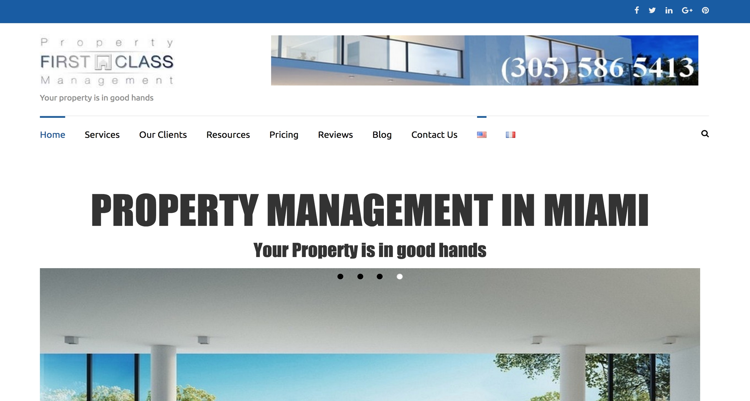 Création Site Internet Property First Class Management - KeepinWeb